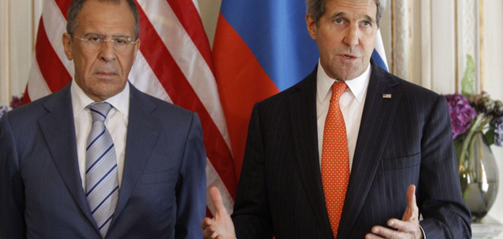 Лавров пожаловался Керри на АТО на Донбассе против российских террористов