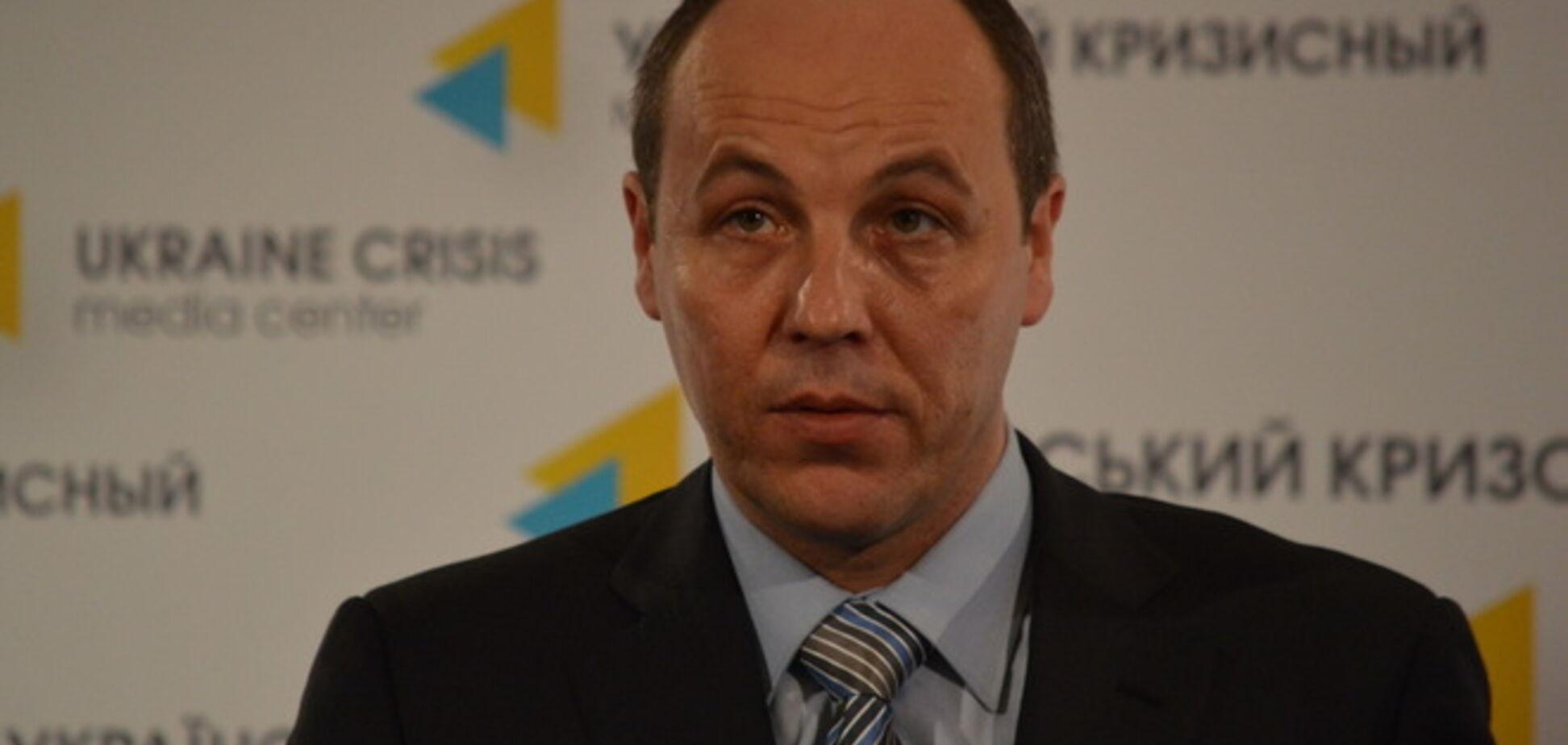 Парубий: на Донбассе находятся 15-20 тыс. боевиков