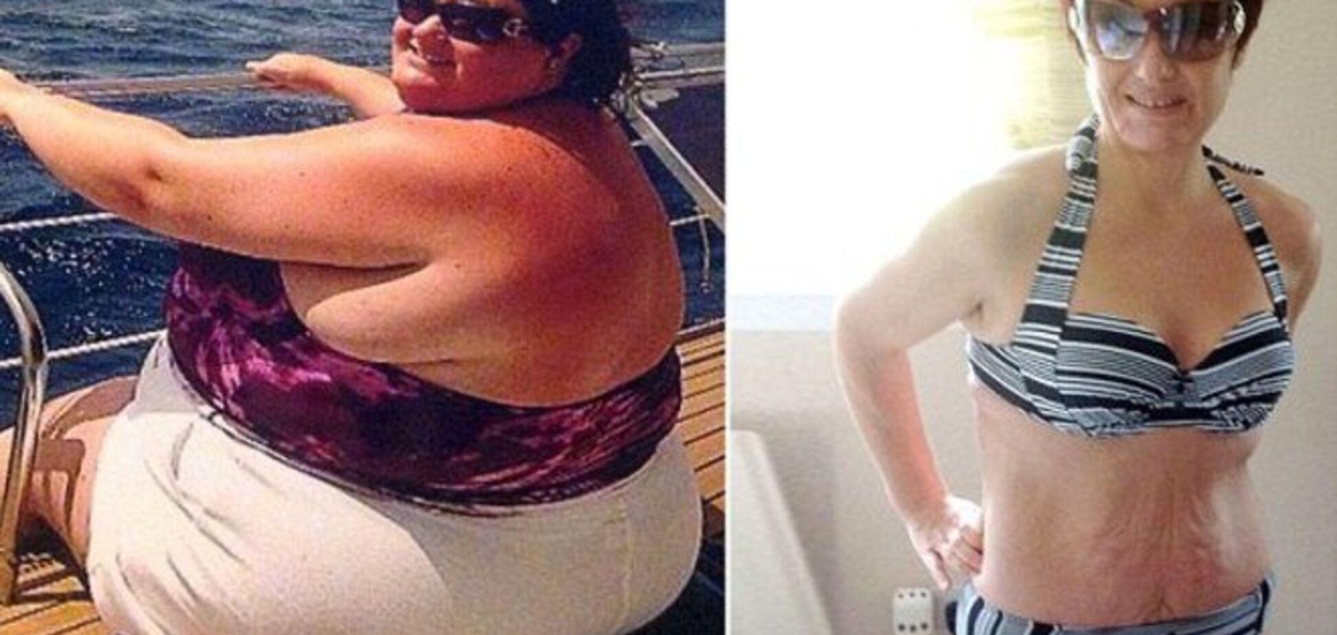 Женщина похудела на 90 кг к своему 40-летию