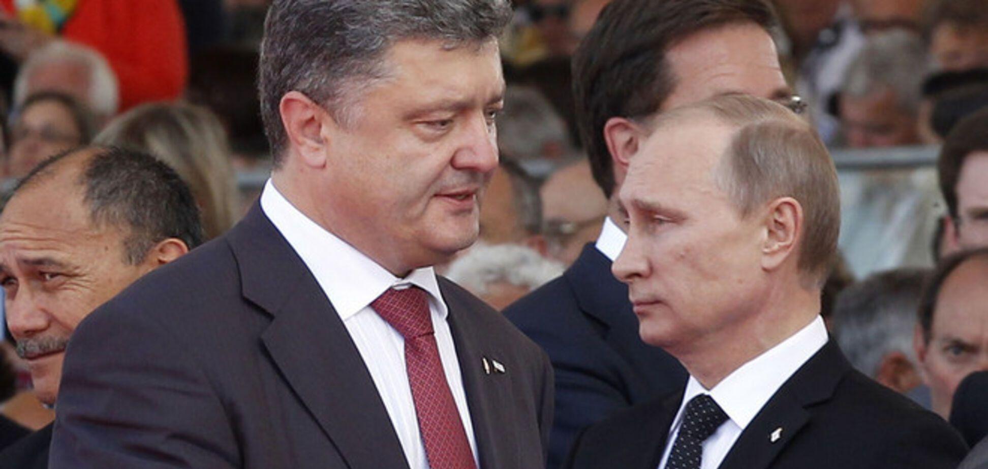 Путин ждет от Порошенко переговоров с террористами