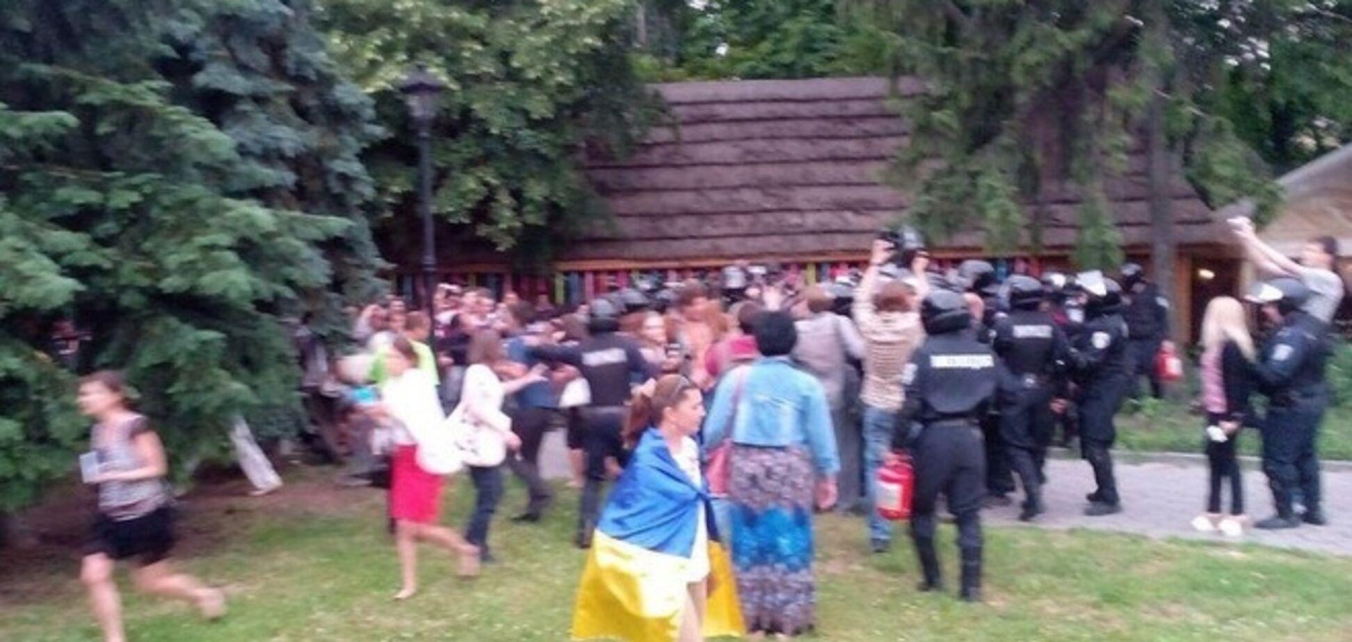 В Нацгвардии заявили, что не били митингующих в Харькове