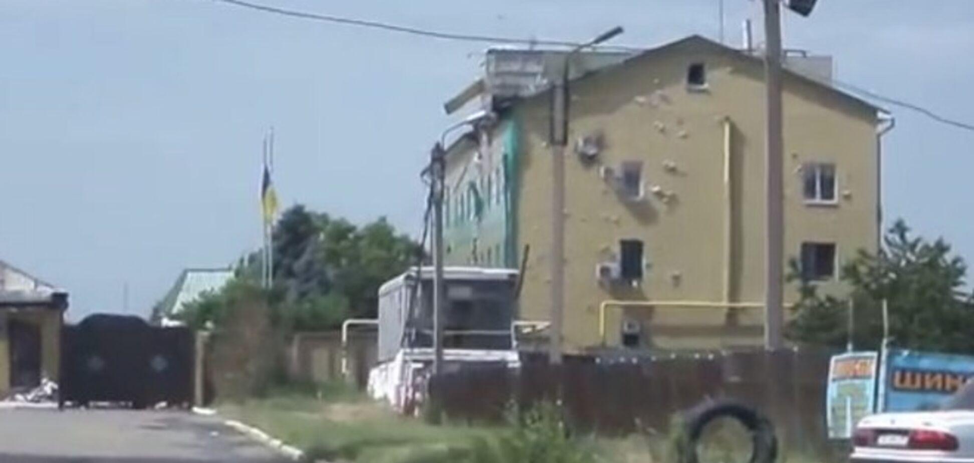 Появилось видео Луганской погранзаставы после боя