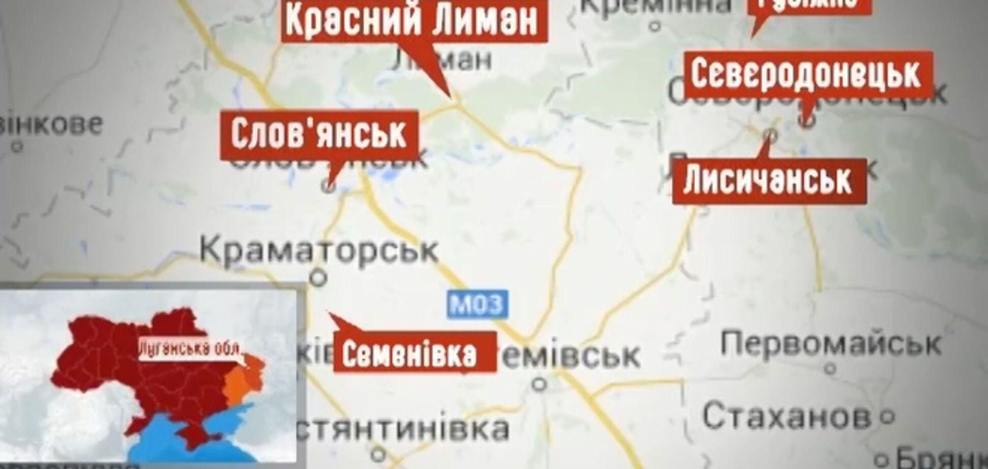 Появилась карта АТО на Востоке: силовики контролируют больше 20 районов