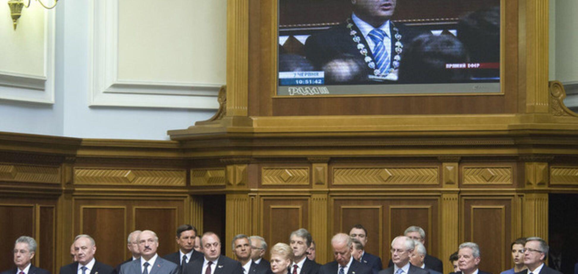 У інавгурації Порошенко взяли участь 60 іноземних делегацій