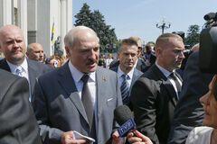 В Киеве Лукашенко встречали кричалками 'Жыве Беларусь!'