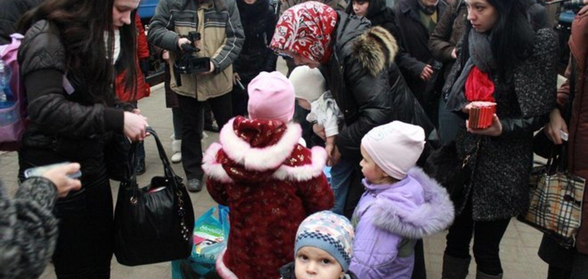 Количество беженцев с востока Украины достигло 10 тыс. человек