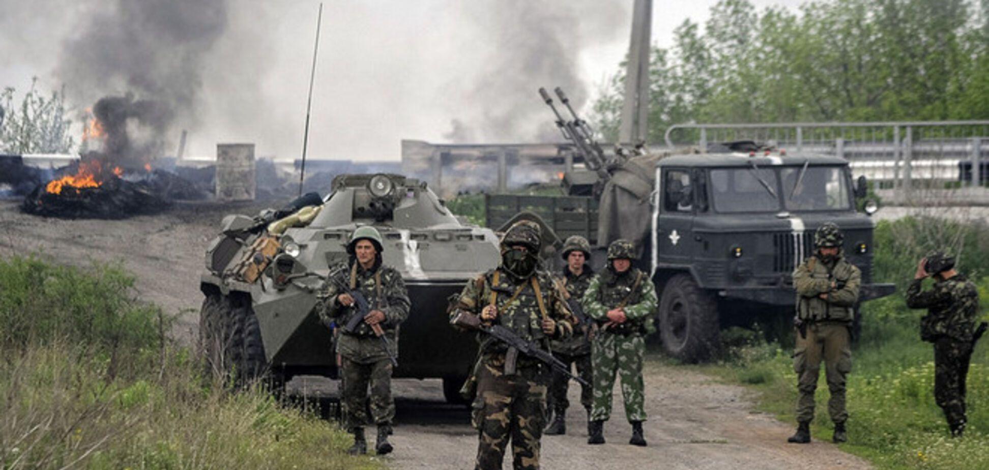 Террористы из двора церкви расстреливают жилые кварталы Славянска
