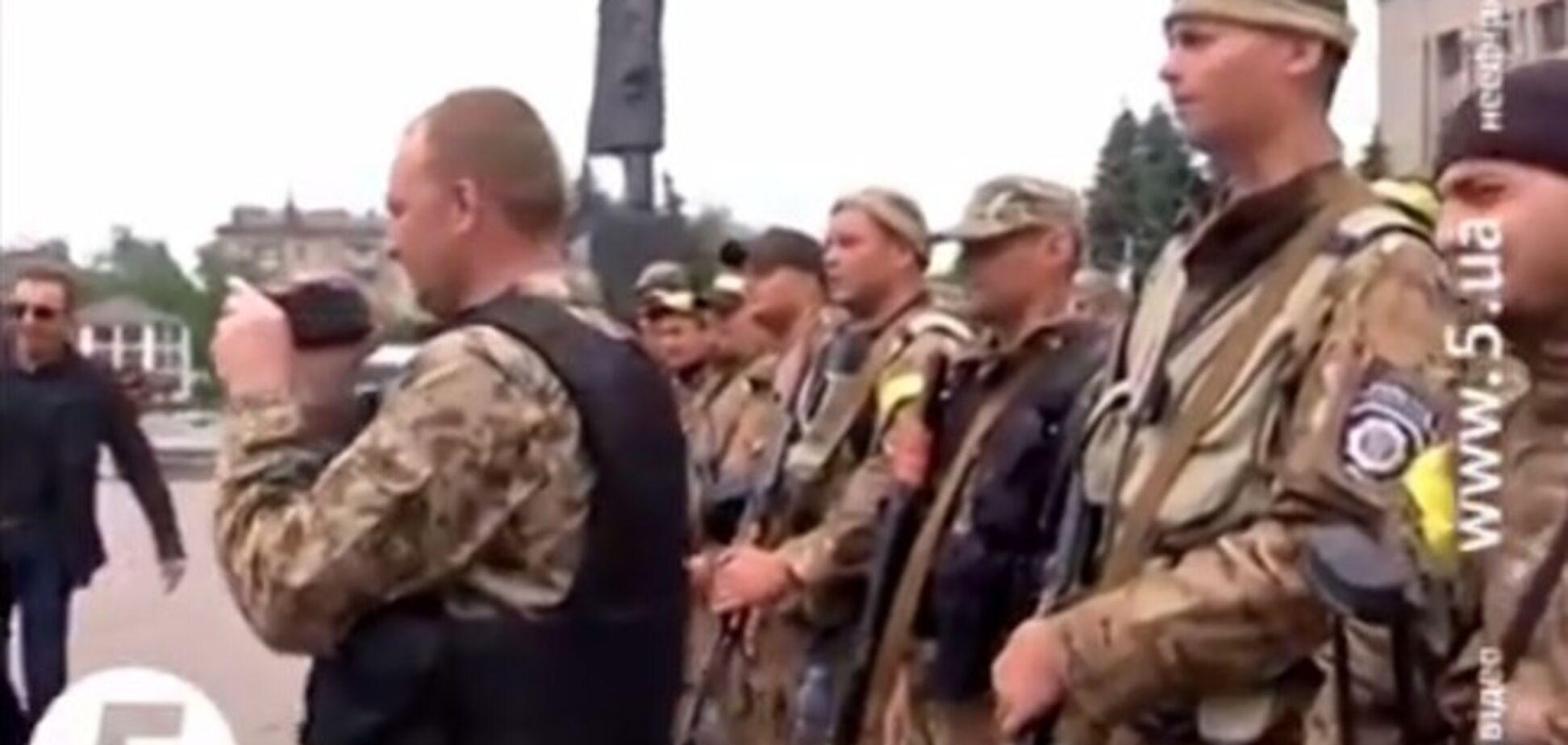 Бійці батальйону 'Київ-1' вітають Авакова кричалкою про Путіна