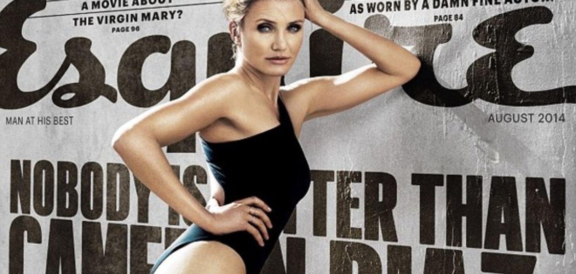 41-летняя Кэмерон Диаз снялась в купальнике для мужского журнала