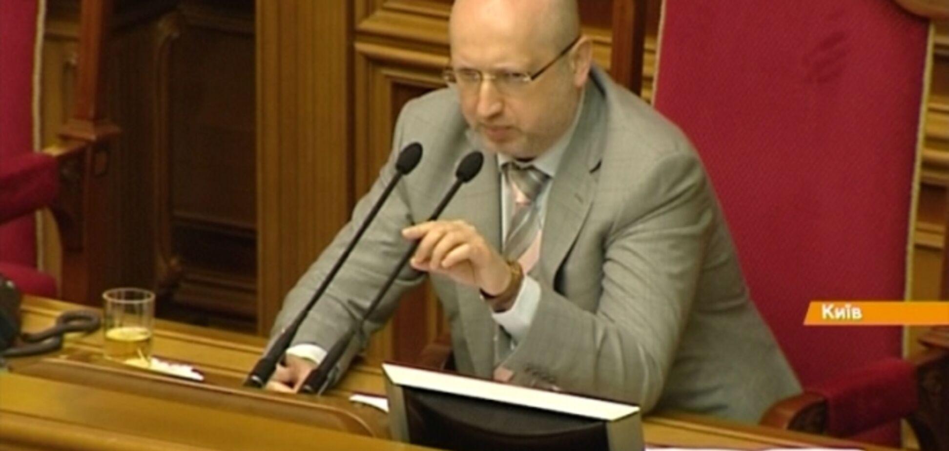 Турчинов оголосив про розпад парламентської коаліції
