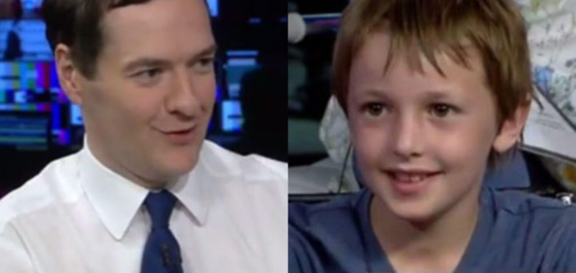 Семилетний школьник поставил в тупик министра финансов Великобритании