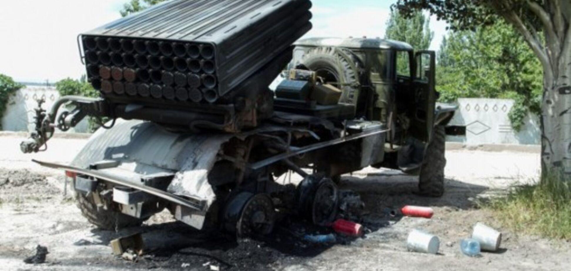 Силы АТО уничтожили два 'Града' террористов