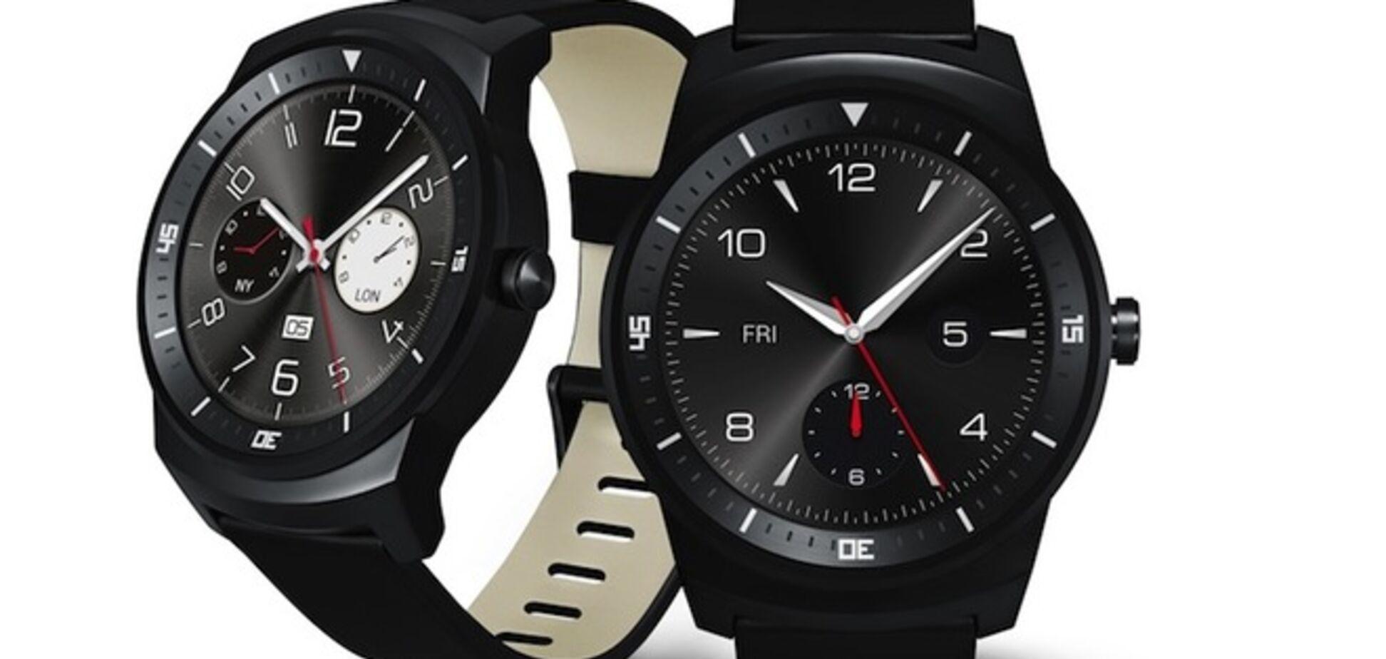 LG презентовала 'умные' часы с круглым дисплеем