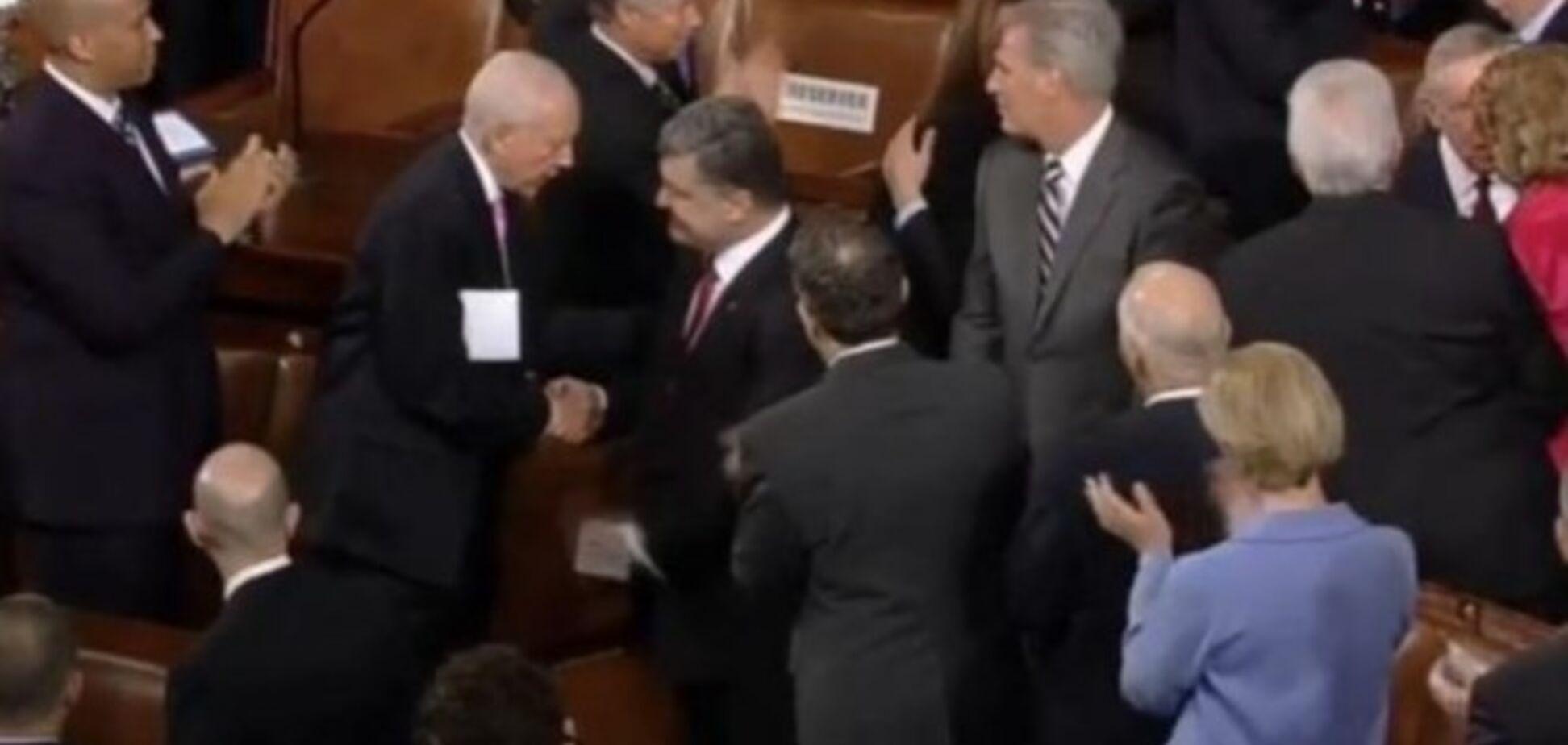 Порошенко в Конгрессе США встретили бурными и продолжительными овациями