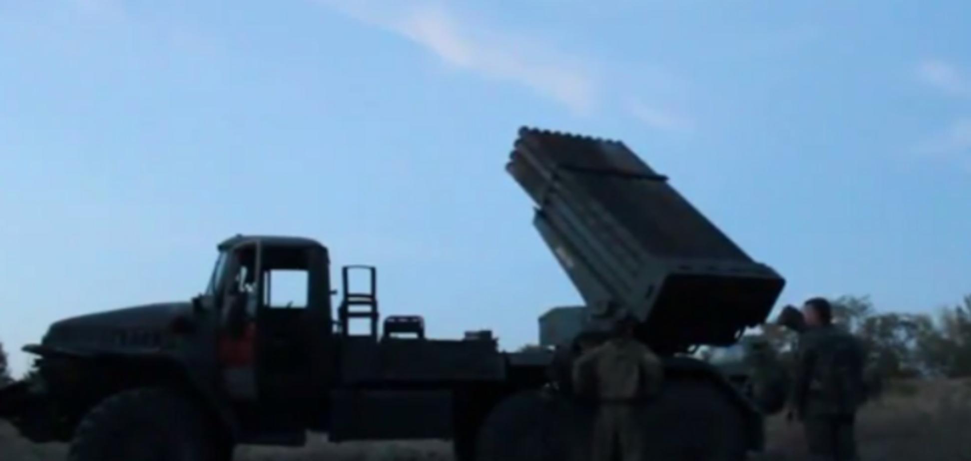 Боевики с хохотом обстреляли 'Градами' позиции сил АТО. Видеофакт