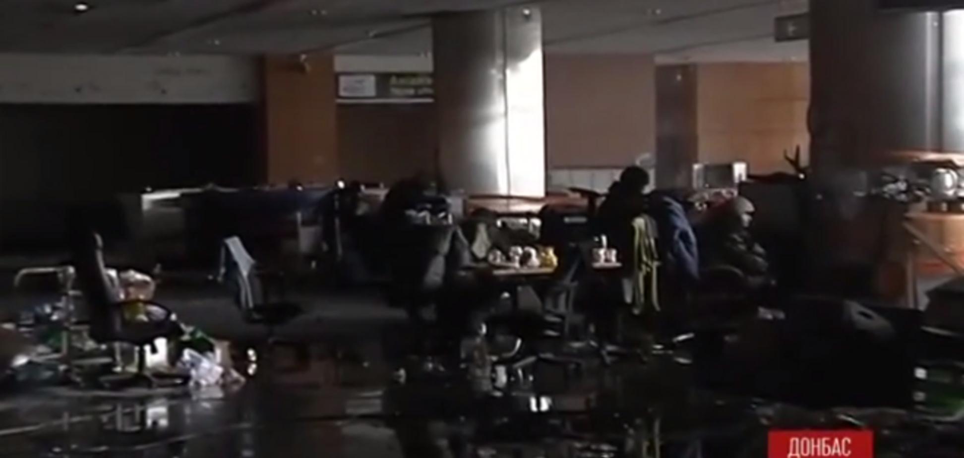 Снято видео изнутри терминала донецкого аэропорта во время атаки боевиков