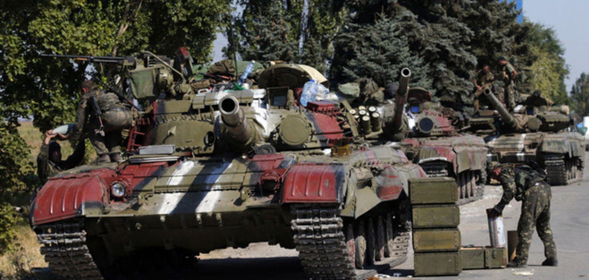 Ночью силы АТО отразили танковую атаку террористов
