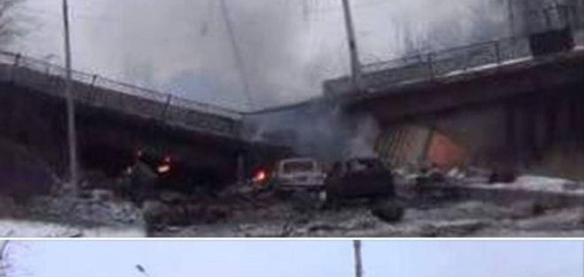 Бои за донецкий аэропорт продолжаются, взорван мост. Фото и видеофакт