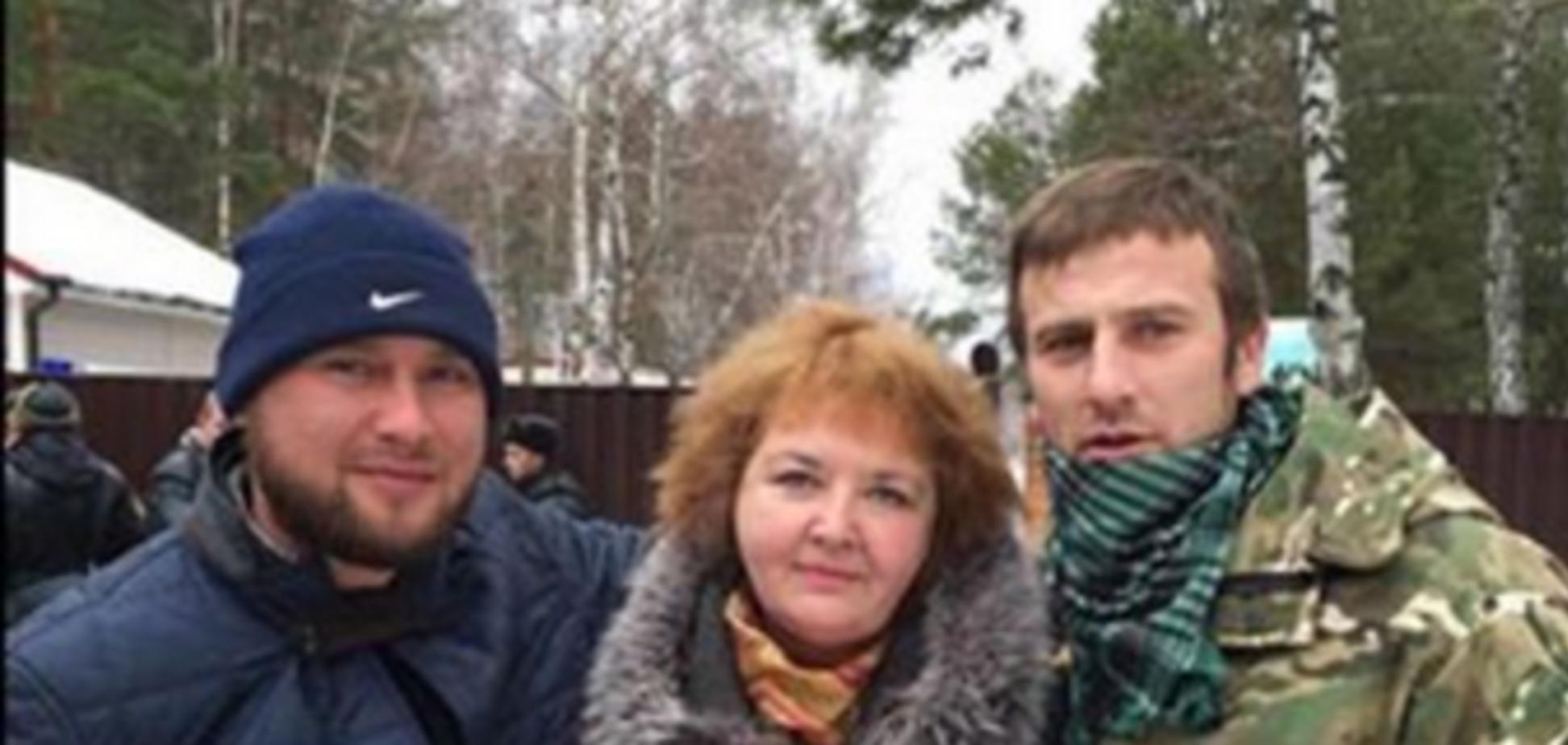 Российская правозащитница Васильева попала в 'плен' Нацгвардии: фотофакт