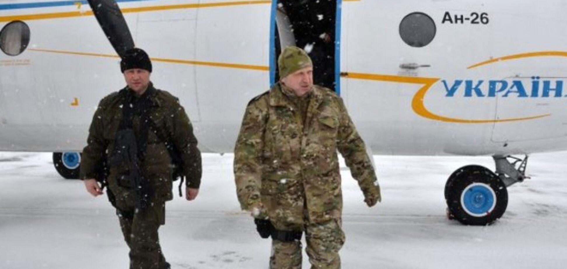 Турчинов попал под обстрел в зоне АТО
