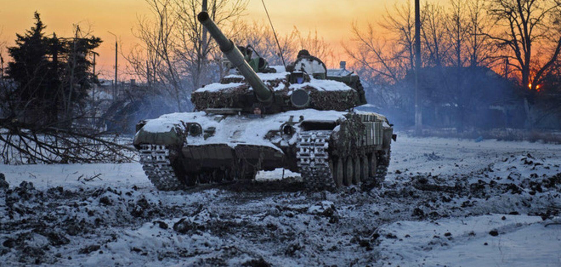 Танки сил АТО выгнали террористов из Красного Партизана - 'Азов'
