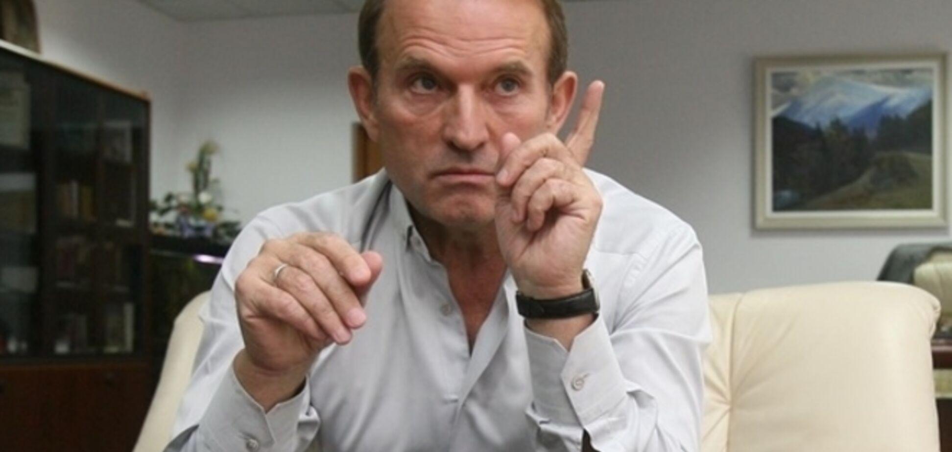 Кум Путіна Медведчук з'їздив у гості до ватажка терористів в Донецьк
