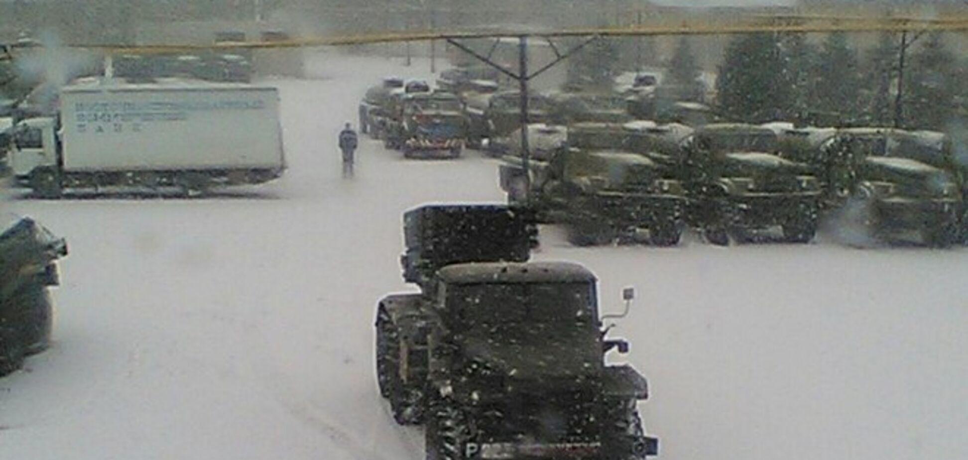 Обнаружена российская военная база в Луганске: 'Грады' стоят рядом с 'гумконвоем'. Фотофакты