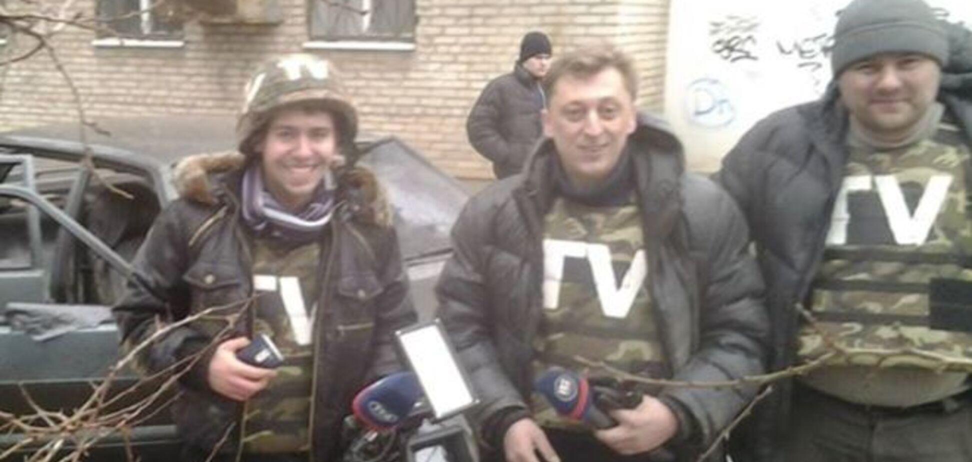 На Луганщине журналисты украинского телеканала попали под обстрел боевиков