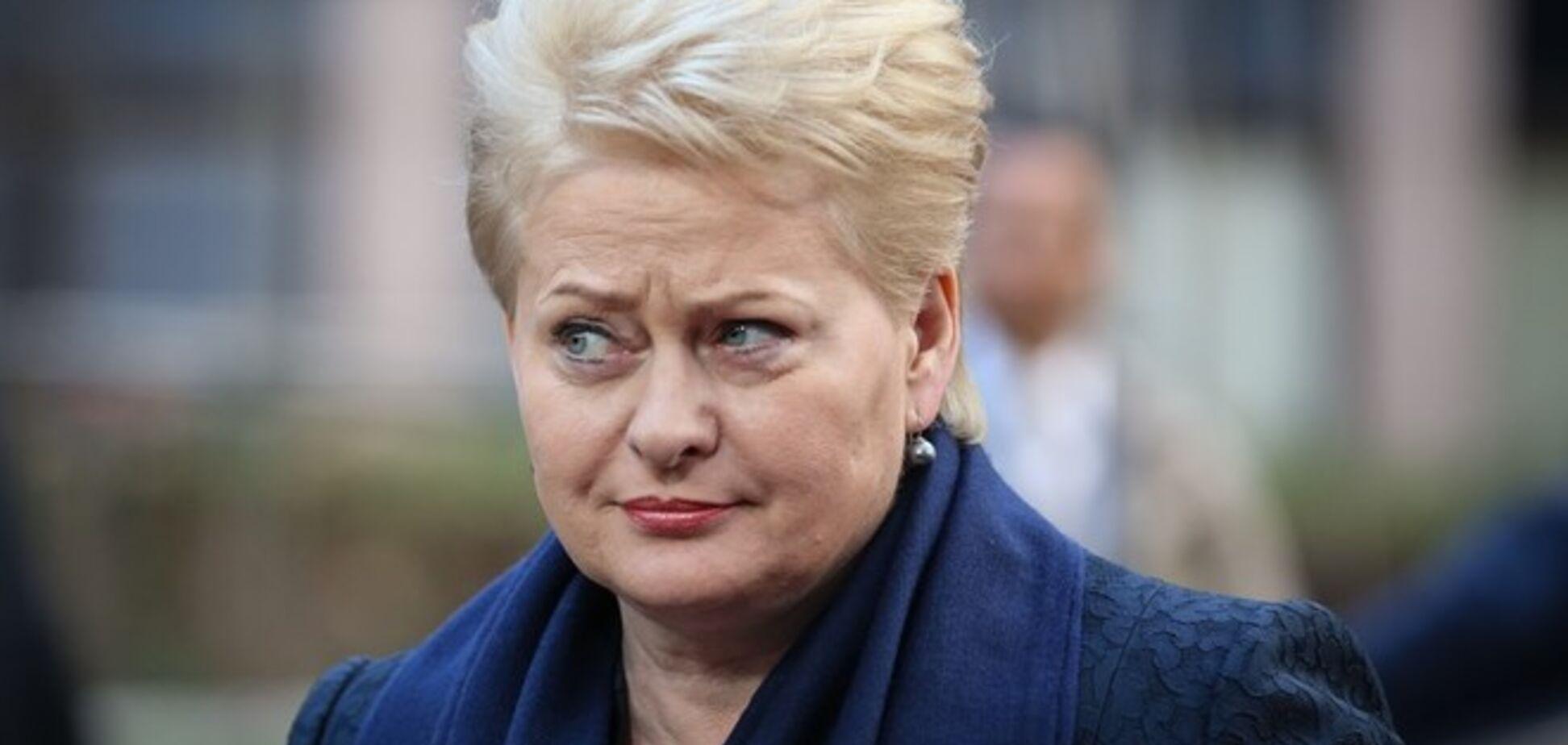 Грибаускайте заявила о секретной помощи Украине: это 'государственная тайна'
