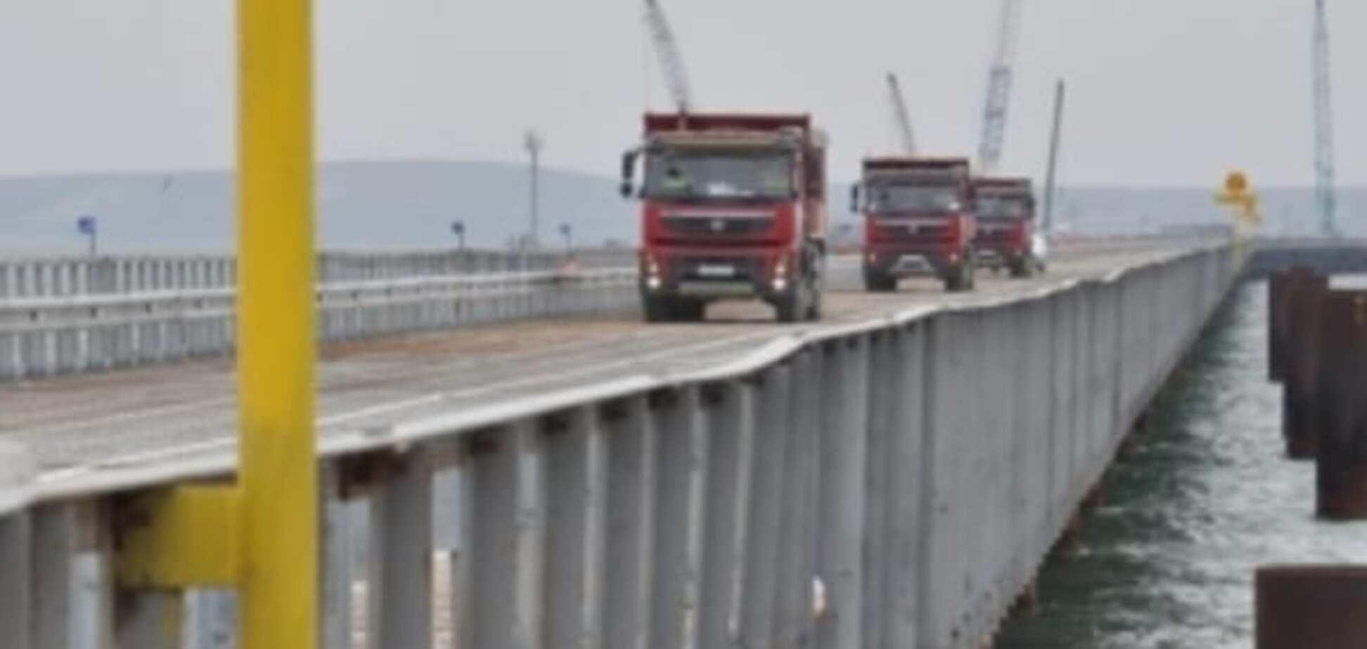 У Росії заявили про 'перші вантажівки', які пройшли через Керченський міст