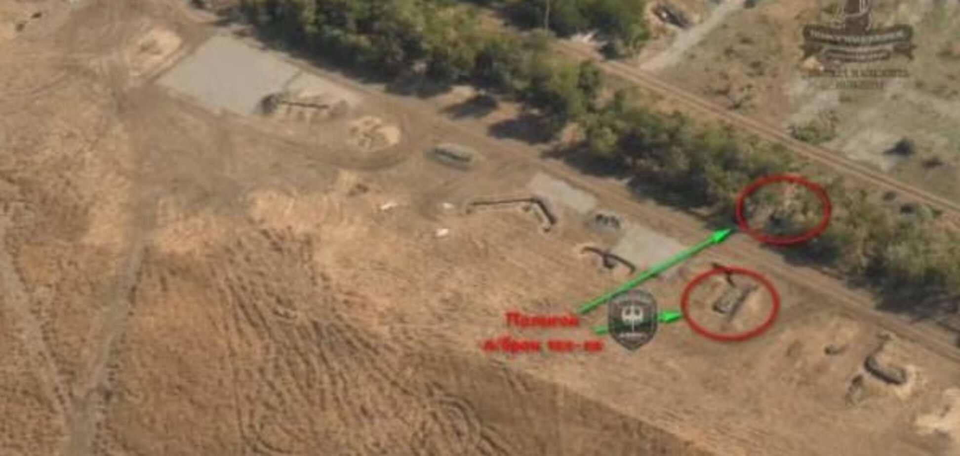 'Дніпро-1' розкрив танкові та артилерійські позиції терористів: опубліковані фото