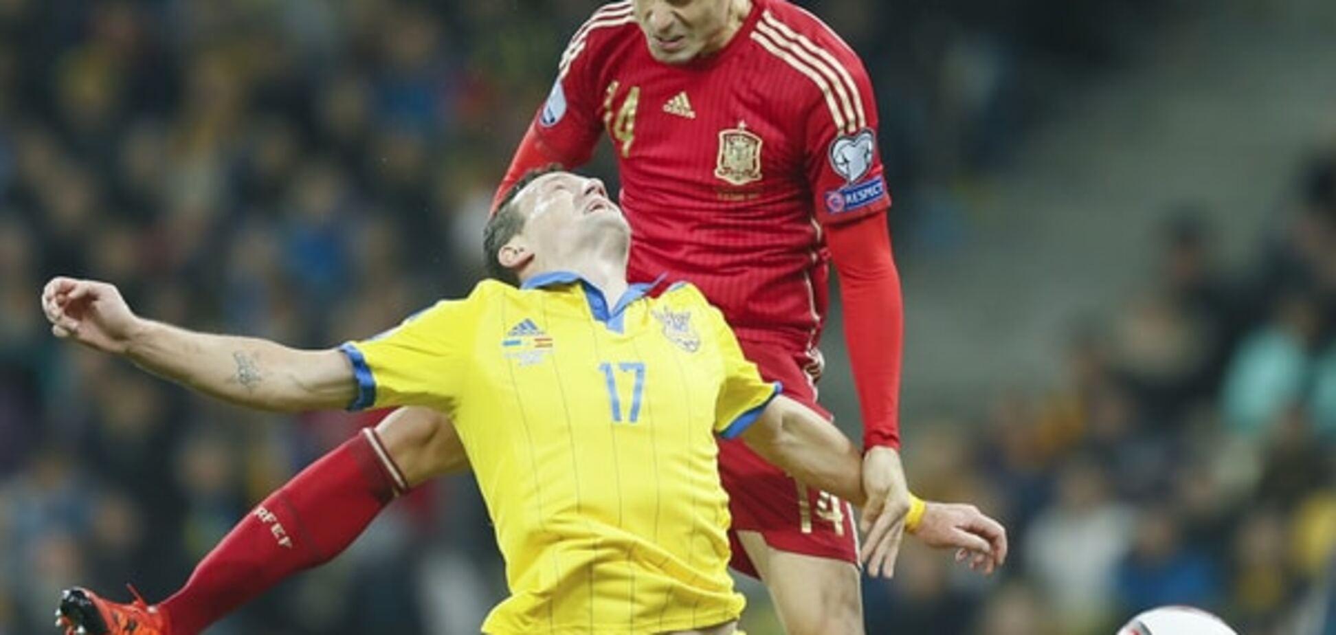 Україна - Іспанія - 0-1: хронологія матчу відбору Євро-2016