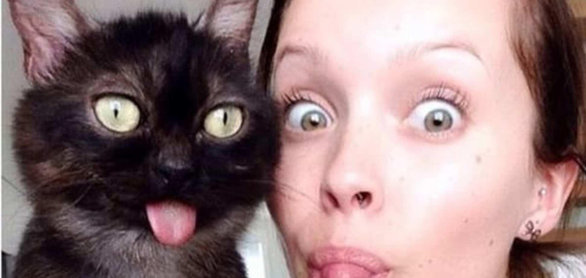 Чудной кот, показывающий язык, стал новой звездой интернета: забавные фото