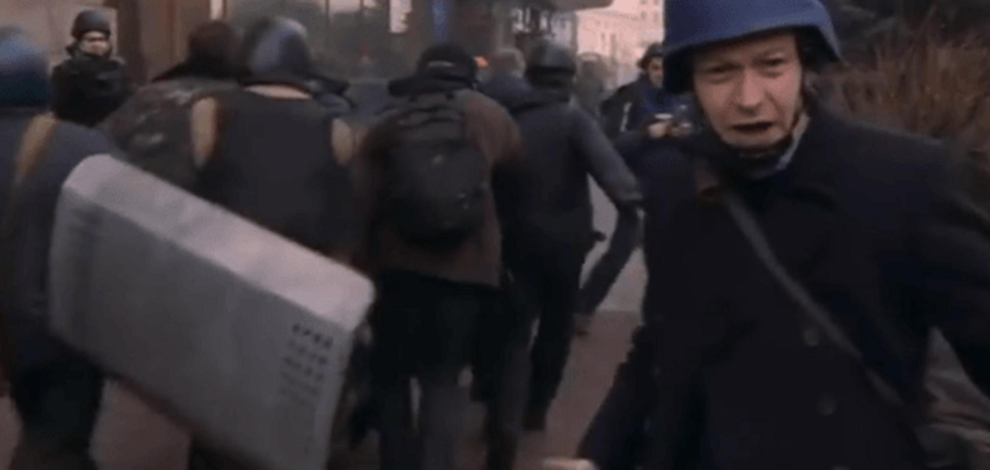 Журналист ВВС снял на видео, как из номера 'свободовца' стреляли по Майдану