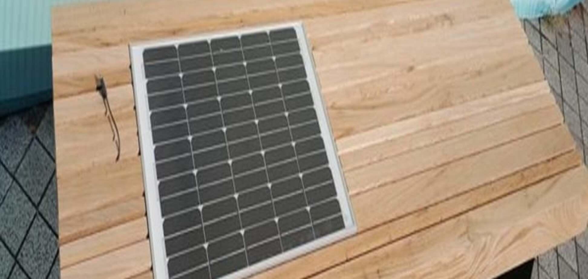 В Киеве презентуют лавочку с солнечной батареей: опубликованы фото