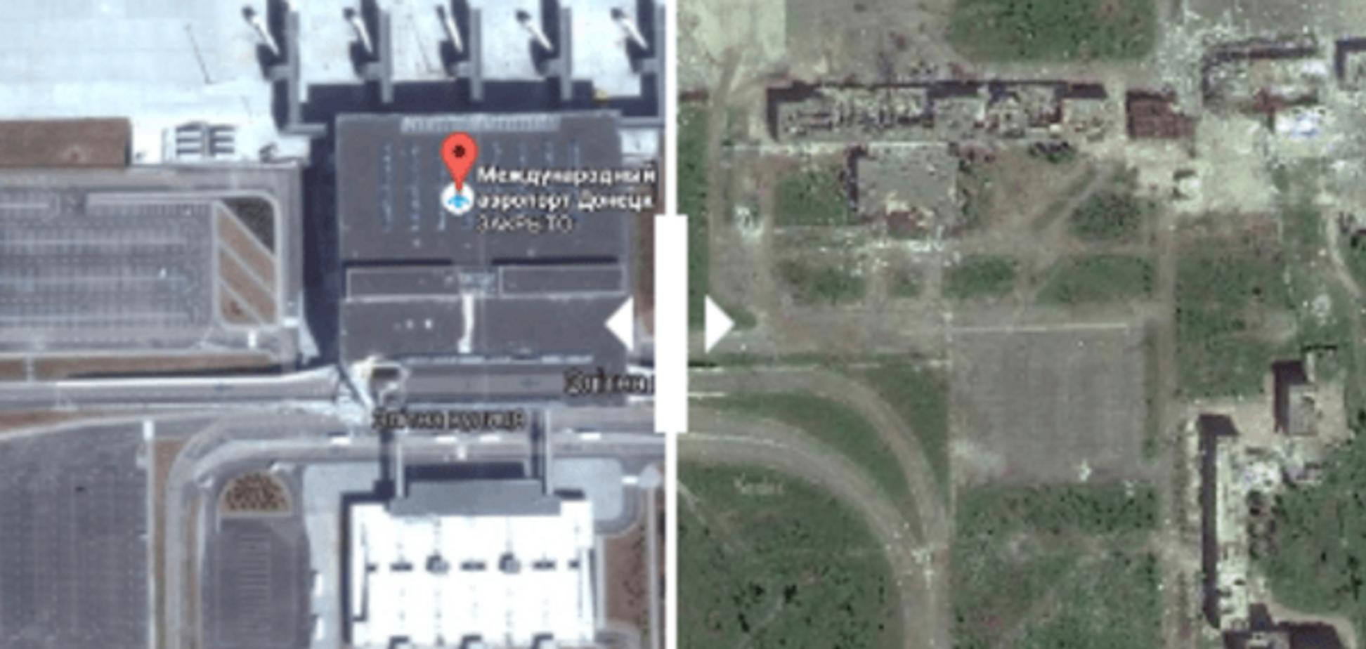 У мережі показали донецький аеропорт з супутника до і після обстрілів: опубліковані фото