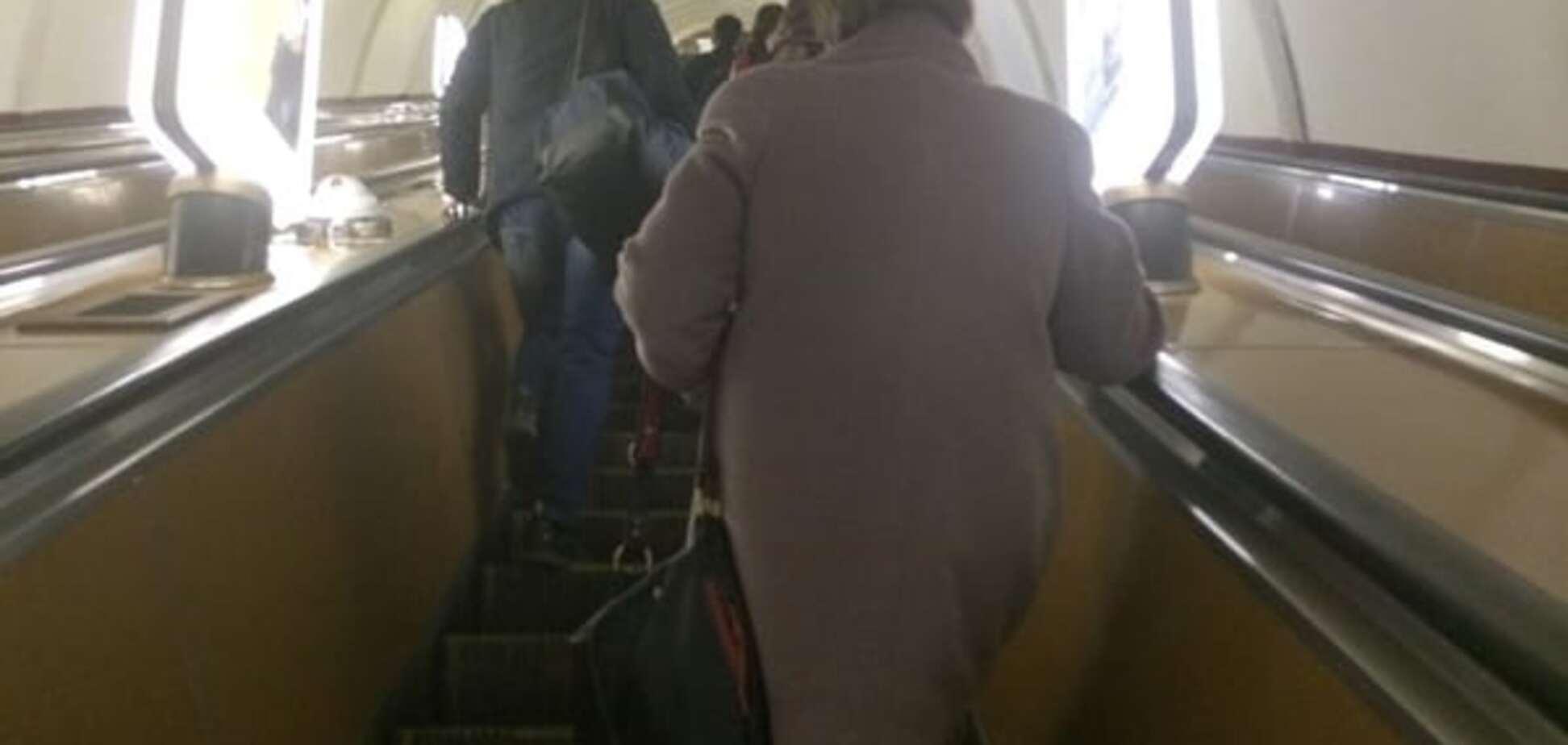 В киевском метро 'пробки' из-за желающих проголосовать: фото