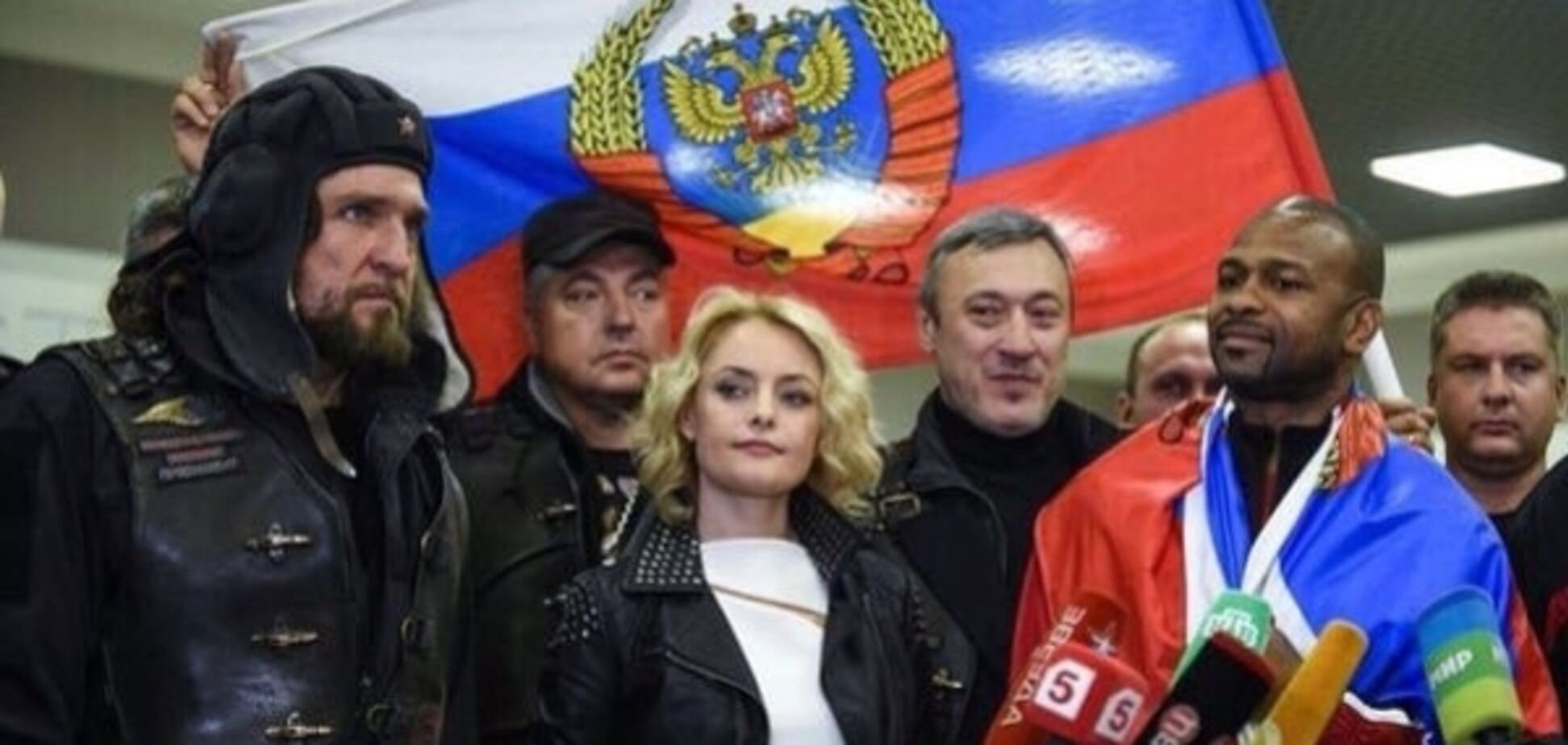 Росіян розлютило фото байкера Путіна з 'гібридом' прапора РФ