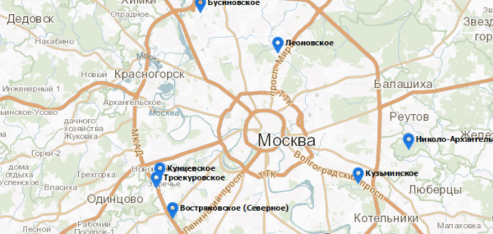 Чорний гумор: влада Москви запустили сайт з панорамами кладовищ