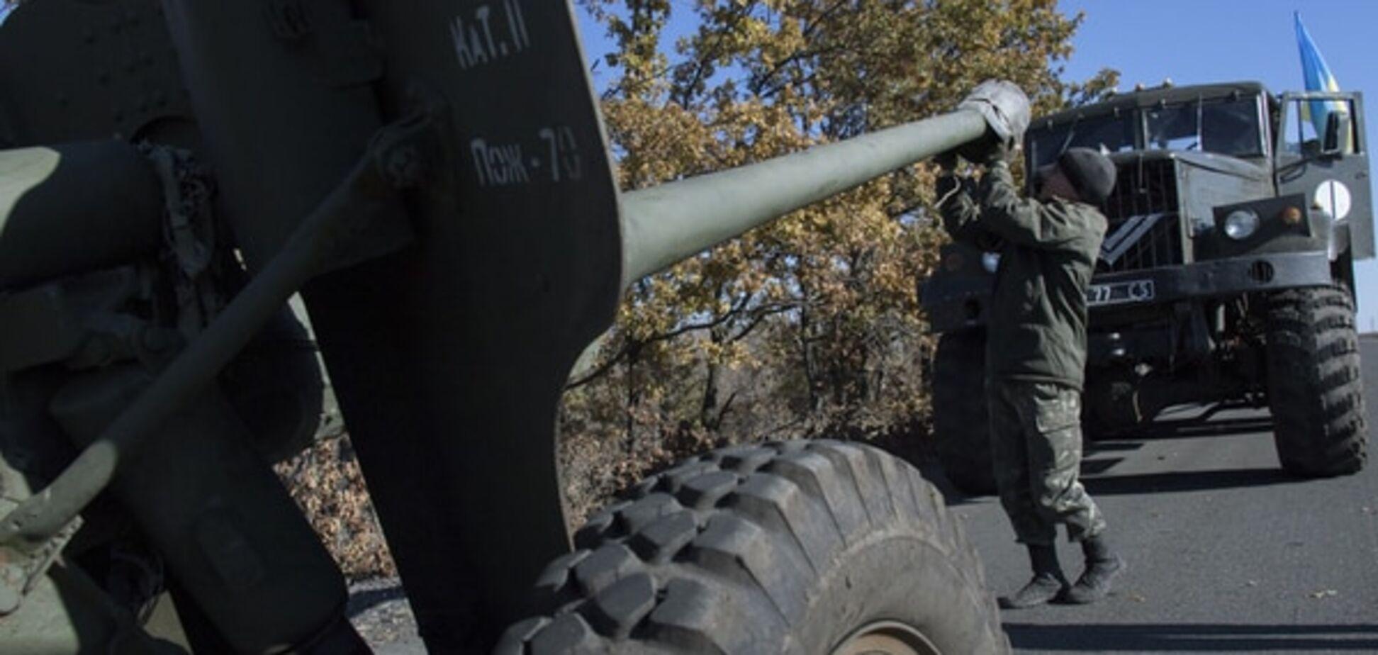 Силы АТО завершили отвод артиллерии на мариупольском направлении