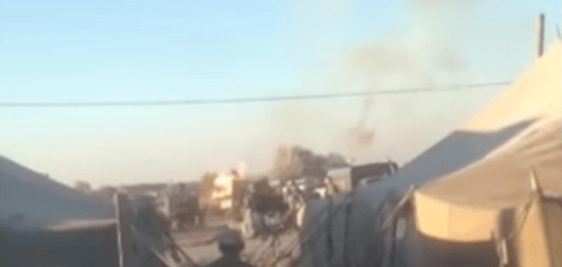 НП на полігоні: на Дніпропетровщині злетів у повітря танк. Відеофакт