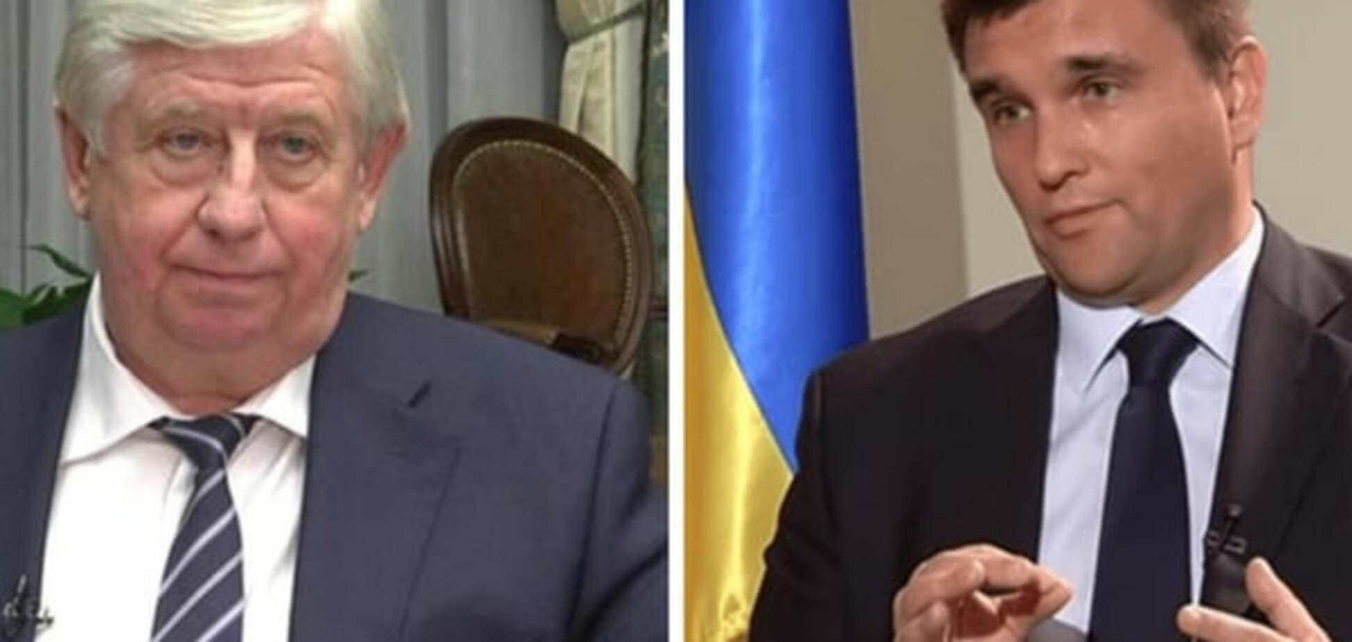 В МИД подтвердили угрозы из ГПУ и показали переписку Шокина с Климкиным