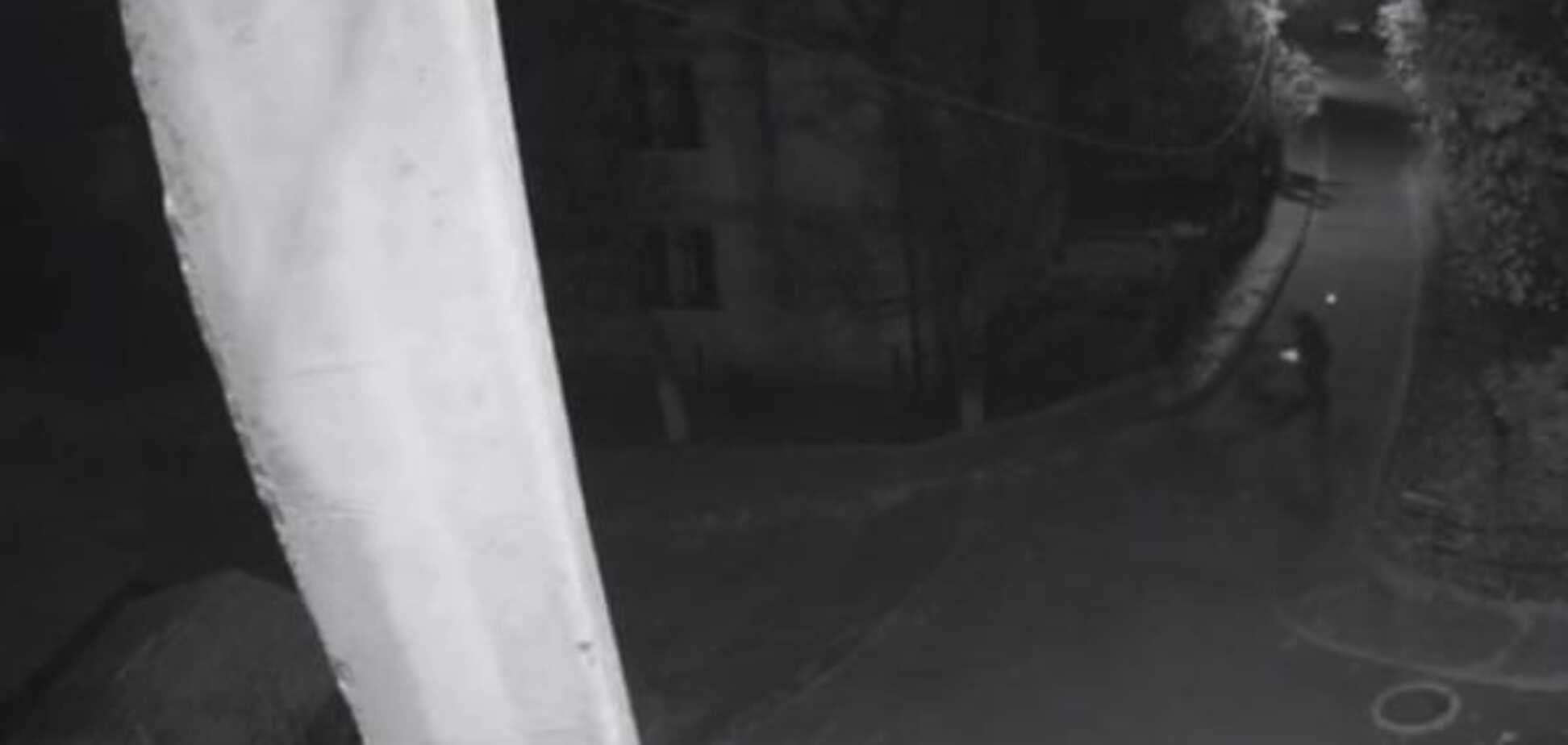 Взрыв гранаты у дома Садового: опубликовано видео