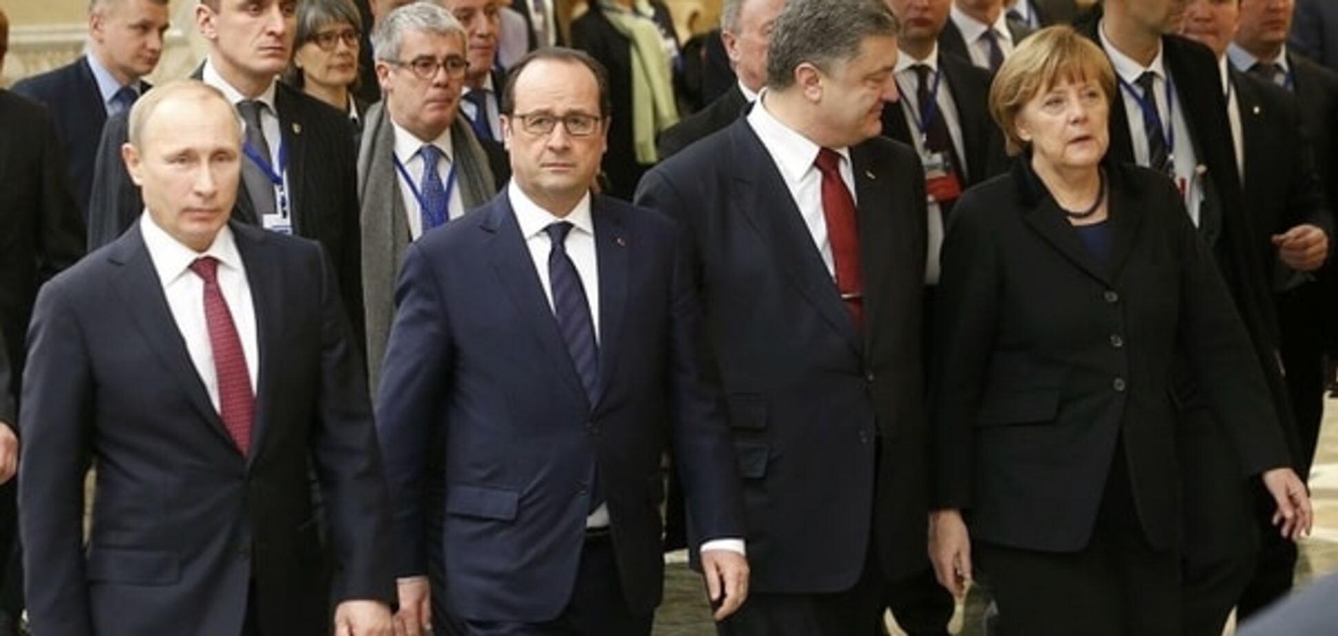 Порошенко не спорит с Олландом и Меркель, а гнет свою линию - Чорновил