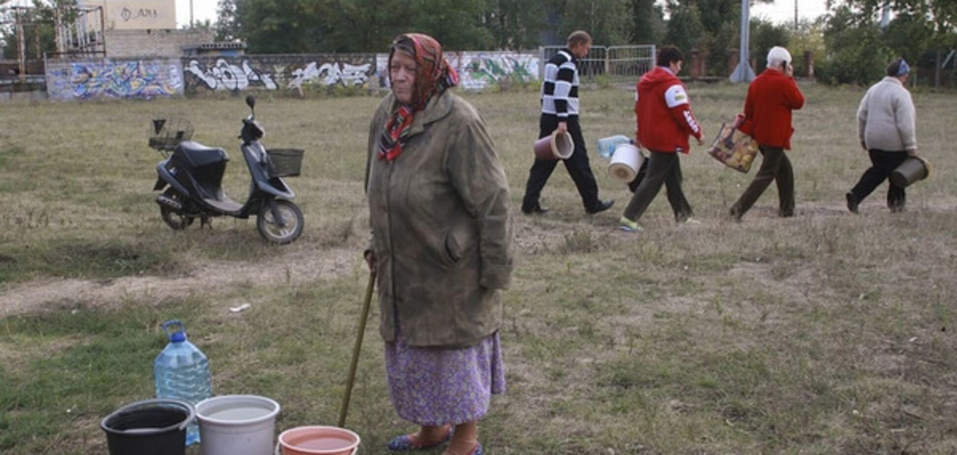В окупованому Донецьку катастрофічні проблеми з водою