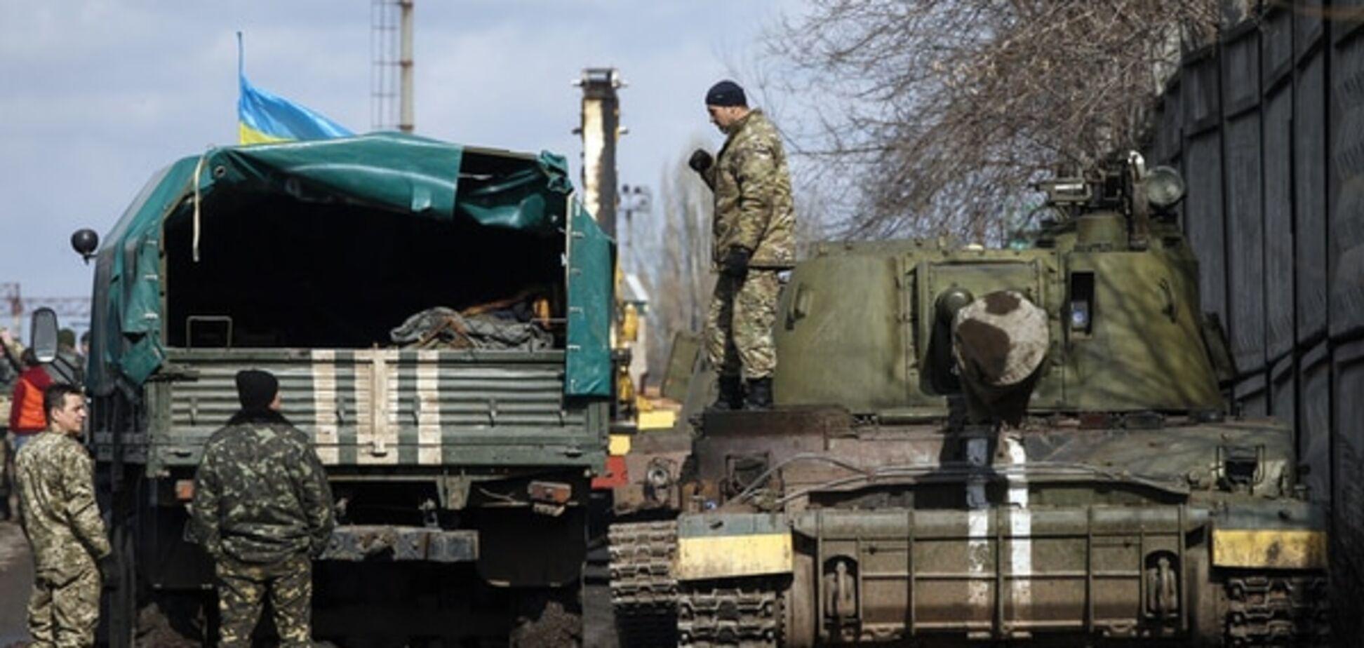 Перший етап відводу танків в Луганській області завершено - штаб АТО