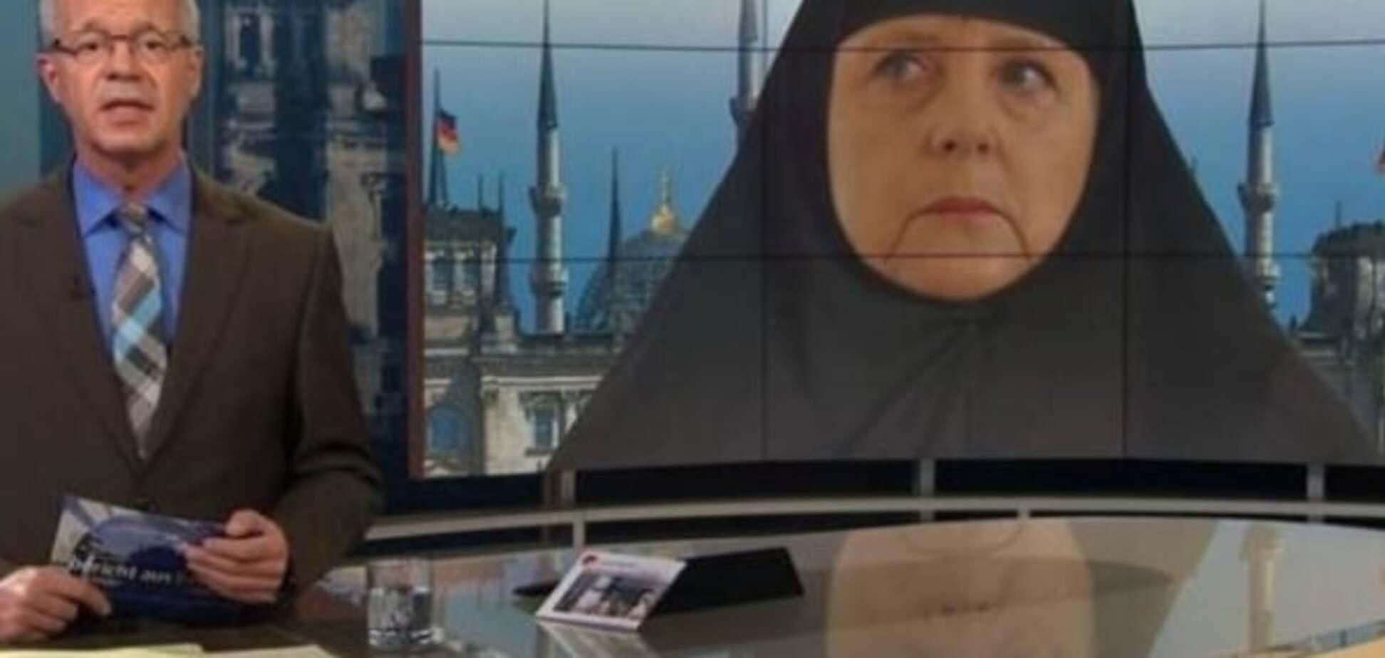 Карикатура на Меркель вызвала скандал среди мусульман