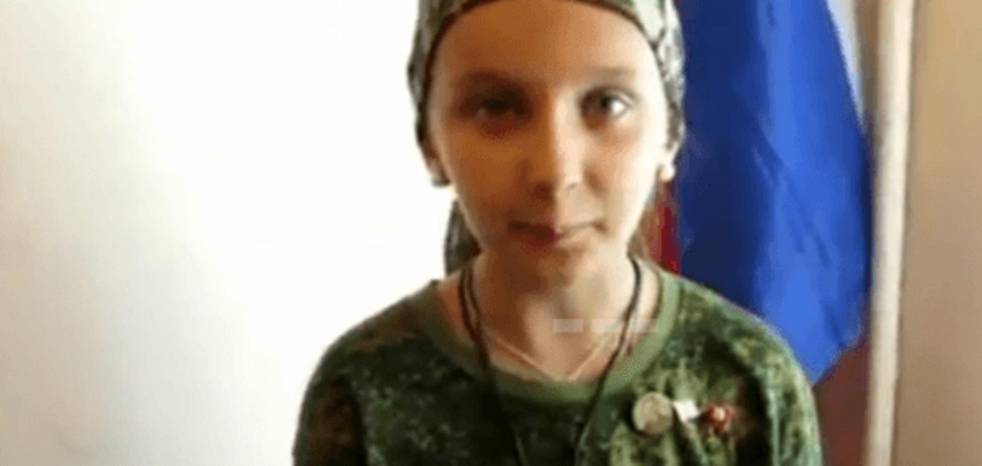 Терорист 'ЛНР' привів воювати свою 10-річну дочку: відеофакт