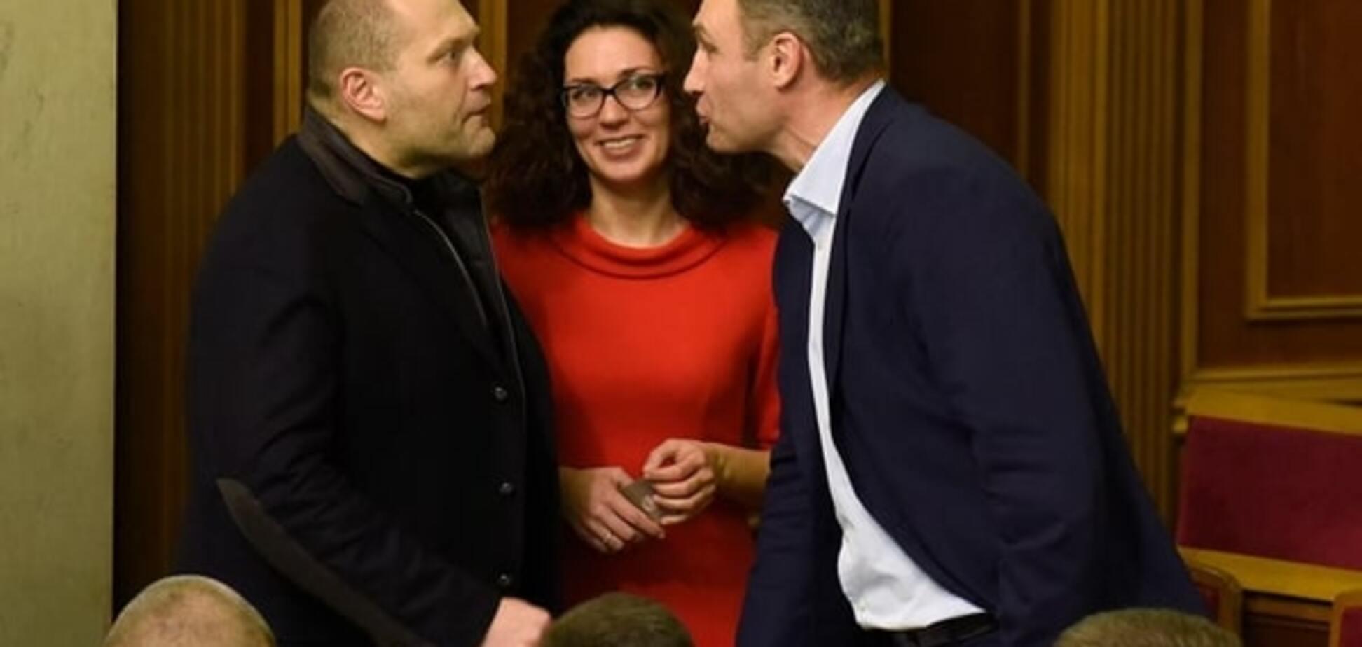 Кличко и Береза 'дебатировали' в Раде кулаками, улыбками и даже губками-уточками