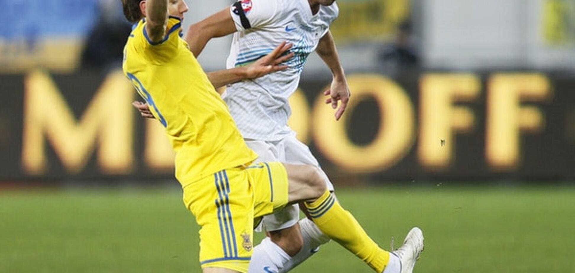 Украина - Словения - 2-0: видео голов